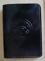 Бумажник из натуральной кожи c Рыбкой