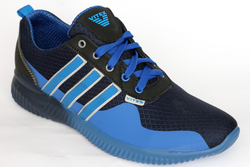 Кроссовки летнее в сетку на мальчика Vitex синего цвета
