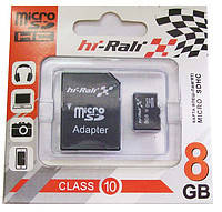 Карта памяти HI-Rali Micro SD 8Gb Class 10 + adapter