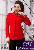 Стильная женская блуза красного цвета с камнями (р. S, M, L, XL) арт.12882