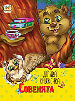 Дырявая книжечка совенята украинская 10 страниц картоная обложка 122х 160