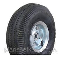 Пневматическое колесо для тачки 3.50-4 пневматическое с ассиметричной ступицей Премиум