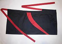 Фартук черный с красной отделкой