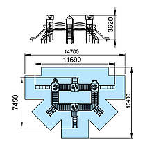 """Игровой комплекс с кухней, мастерской, лабиринтом и комнатой """"Цитадель-NEW"""" T911NEW, фото 3"""