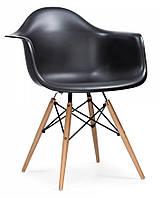 Кресло Тауэр Вуд черное, Пластиковое Ретро кресло на буковых ножках, кресла для Horeca