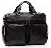 Кожаная мужская деловая сумка Blamont 002 черная