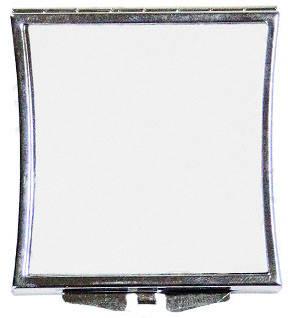 """Зеркальце в форме """"Квадрат"""" из изогнутыми краями для сублимации"""