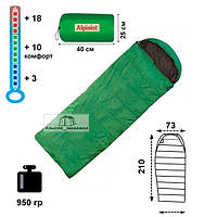 Спальный мешок-одеяло Alpinist 150 с подголовником