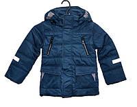 Демисезонная куртка для мальчика 4-8 лет Yixiang сапфировая