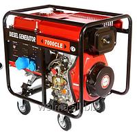 Дизельный генератор Weima WM7000CLE 7,0 кВт 3 фазы цилиндр съемный, двиг. WM188FBE -12л.