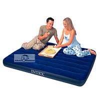 Надувная кровать Downy  Intex 68758  (137*191*22 см)