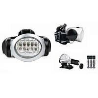 Налобный фонарь-BL-603  8 светодиодов