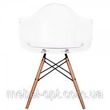 Дизайнерское кресло Тауэр прозрачное, Реплика на кресло Eames, пластиковое на буковых ножках, SDMWCHTR, фото 3