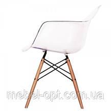Дизайнерское кресло Тауэр прозрачное, Реплика на кресло Eames, пластиковое на буковых ножках, SDMWCHTR, фото 2