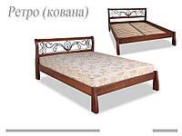 Кровать деревянная (ковка) Ретро ДОК