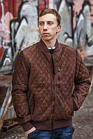 """Куртка демисезонная  """"Замш"""" коричневый"""