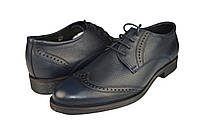 """Мужские туфли """"классические"""" из натуральной кожи mida 11056син.флот синие   весенние , фото 1"""
