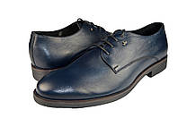 """Мужские туфли """"классические"""" из натуральной кожи mida 110162син синие   весенние , фото 1"""