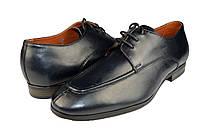 """Мужские туфли """"классические"""" из натуральной кожи mida 110274син синие   весенние , фото 1"""