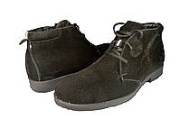 Мужские ботинки замшавые зимние на меху mida 14938вел.ч черные   зимние