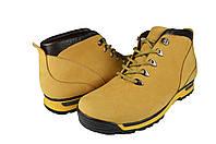Мужские ботинки замшавые зимние на меху prime 725жов.нуб черные   зимние