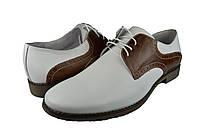 """Мужские туфли белые мужские""""классические"""" из натуральной кожи faro 20.84 белые   весенние"""