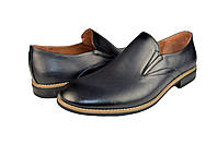"""Мужские туфли  мужские""""классические"""" из натуральной кожи prime 483син черные   весенние , фото 1"""