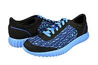 Мужские кроссовки из натуральной кожи со вставками из сетки mida 11201гол.ч синие   весенние , фото 1