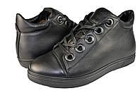 Мужские ботинки кожаные зимние на меху prime 601ч черные   зимние
