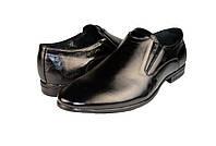 """Мужские туфли  мужские""""классические"""" из натуральной кожи mida 110168ч черные   весенние , фото 1"""