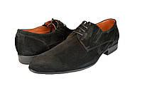 """Мужские туфли  мужские""""классические"""" из натуральной кожи mida 110008вел.ч черные   весенние , фото 1"""