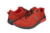 Мужские кроссовки из натуральной кожи mida 110107нуб.крас красные   весенние , фото 1