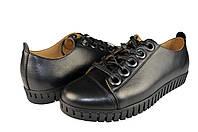 Мужские туфли спортивные мужские из натуральной кожи prime 301ч черные   весенние , фото 1