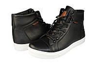 Мужские ботинки кожаные зимние на меху prime 660 черные   зимние