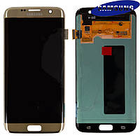 Дисплей + touchscreen (сенсор) для Samsung Galaxy S7 EDGE G935F, золотистый, оригинал