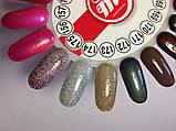 Гель-лак My Nail №175 (напівпрозорий з фіолетовими,срібними,бронзовими блискітками) 9 мл, фото 2