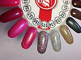 Гель-лак My Nail №175 (напівпрозорий з фіолетовими,срібними,бронзовими блискітками) 9 мл, фото 3