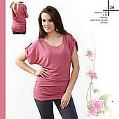 Летняя блузка женская с коротким рукавом, распродажа. Модель 131 Mirabelle.