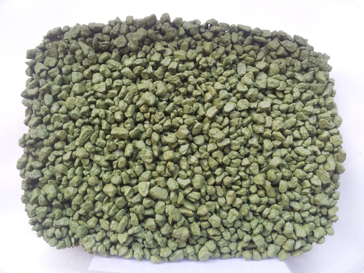 Кварцевый песок цветной V-12 (лайм 1 кг)