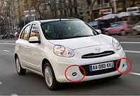 Противотуманные фары Nissan Micra с 2010- / Производитель DLAA