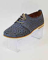 Женские голубые летние туфли Ripka 285