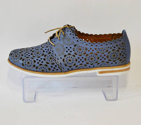 Женские голубые летние туфли Ripka 285, фото 2