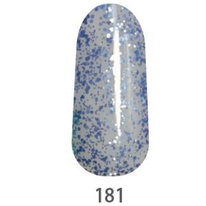 Гель-лак My Nail №181 (полупрозрачный с небесно-голубыми блесточками) 9 мл