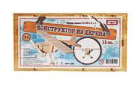 Конструктор деревянный Самолет 15 элементов в коробке 31*16*4 см