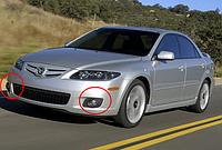 Противотуманные фары Mazda 6 с 2002-  / Производитель DLAA