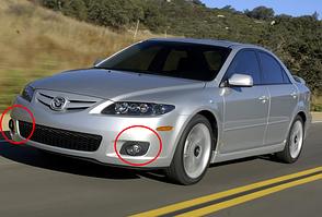 Противотуманные фары Mazda 6 с 2002-2006