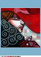Схема для контурной вышивки бисером «Портрет женщины», А3