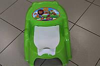 Горшок детский (кресло) син/салат производитель Технок