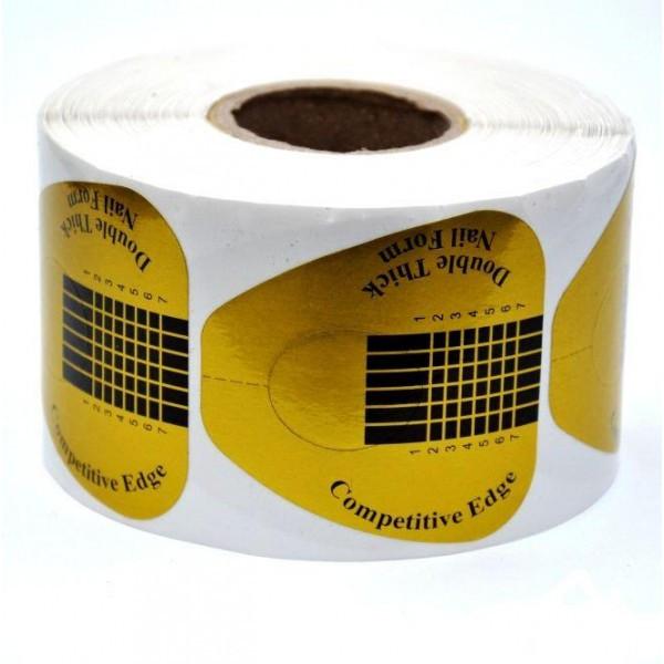 Формы для наращивания ногтей  зототые широкие 500 шт.