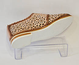 Женские бежевые летние туфли Ripka 285, фото 2